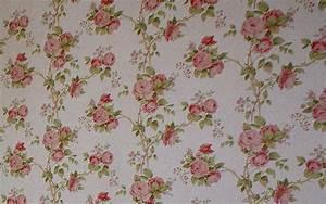 Papier Peint Fleuri : papier peint chambre style anglais 042857 ~ Premium-room.com Idées de Décoration