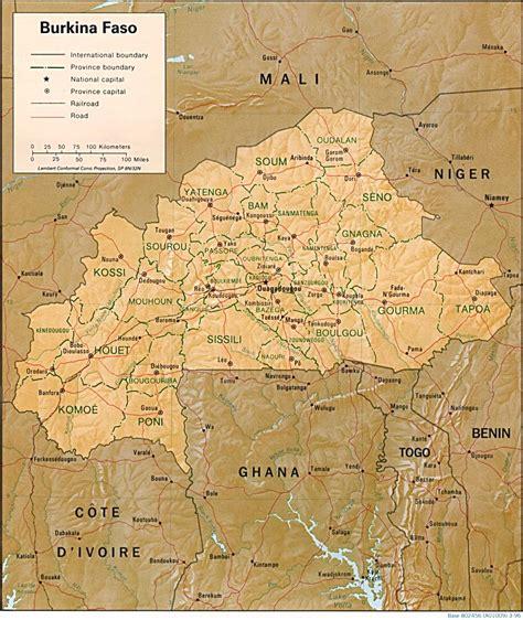 Burkina Faso - relief • Carte • PopulationData.net