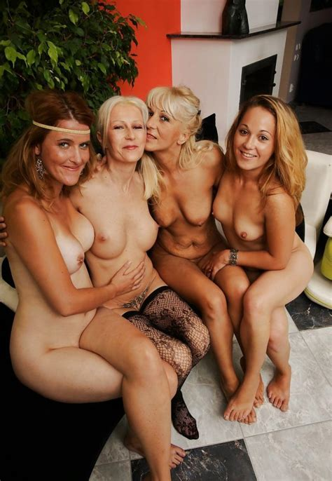 Mixed Age Group Group Of Nude Girls Sorted By Position Luscious