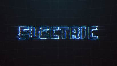 Text Electrical Glitch Electric Pulsing Effects Reveal