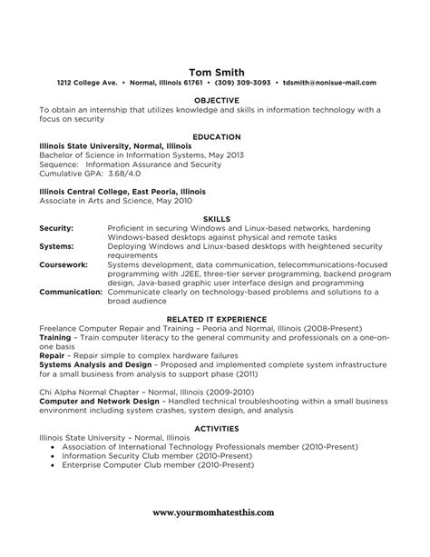 Formal Resume Template by Formal Resume Template Printable Resume Format