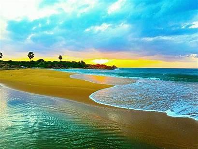 Lanka Sri Nature Wallpapers Sunrise Waves Sea