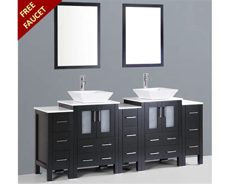 square vessel sink vanity 84in double square vessel sink vanity by bosconi boab224s3s