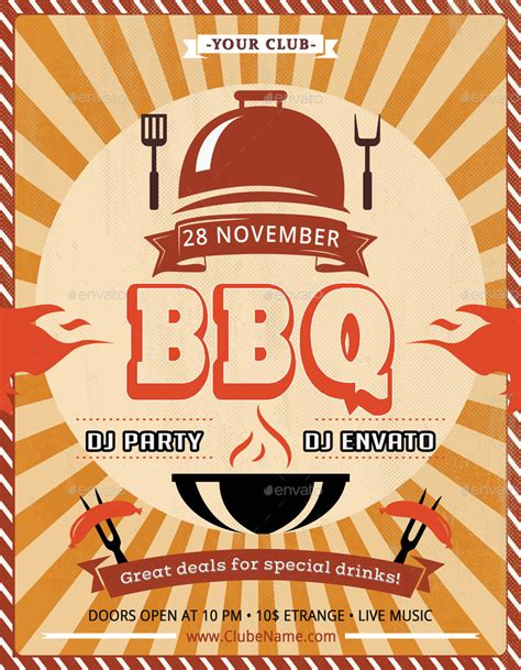 bbq flyer  oloreon graphicriver