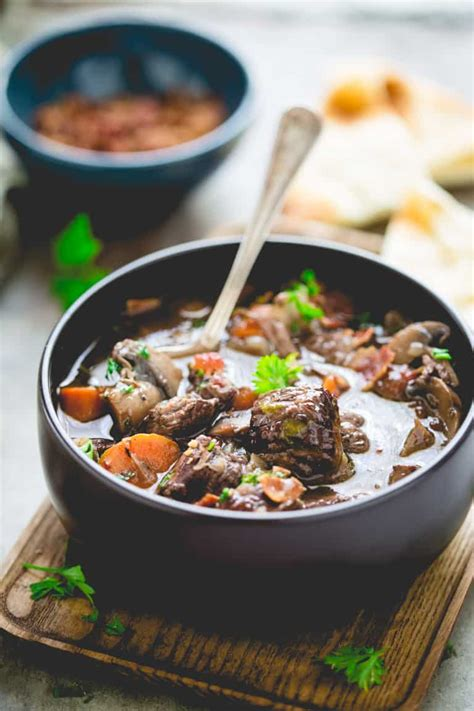 beef slow cooker burgundy healthy stew chicken quick cacciatore recipes healthyseasonalrecipes recipe food meals dinner