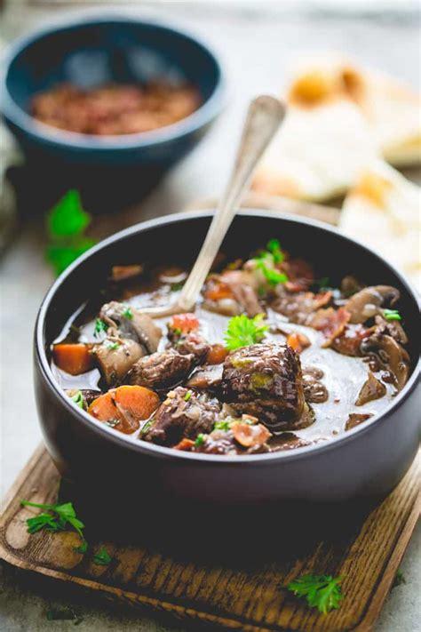 beef slow cooker burgundy healthy stew chicken quick cacciatore recipes healthyseasonalrecipes recipe food meals dinner