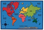 Carpets for Kids World Map KID$ Value Discount Rug, 4' x 6 ...