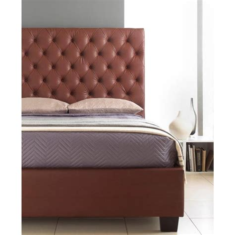 Windsor Tall Headboard Bed Frame Faux Leather Beds Fads