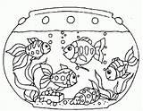 Fish Coloring Tank Printable Imprimer Drawing Adult sketch template