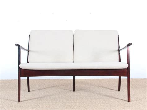 banquette scandinave 2 places en acajou rev 234 tement au