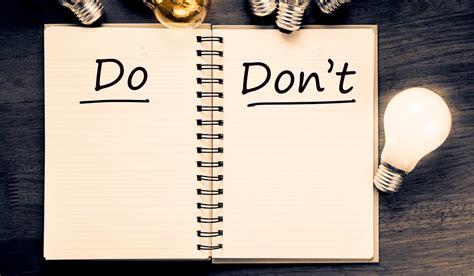 the do s don ts top 10 do s and don ts in online education opportunity desk