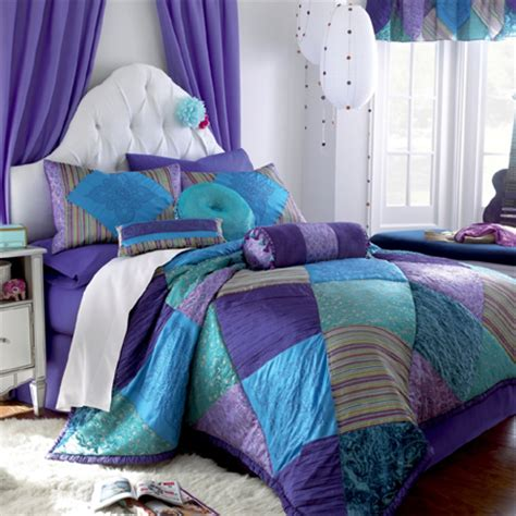 purple and teal comforter home dzine bedrooms gorgeous duvets and bedding for
