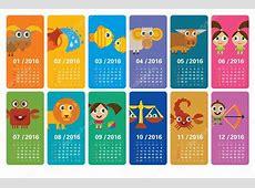 Lindo calendario 2016 con horóscopos divertidos dibujos