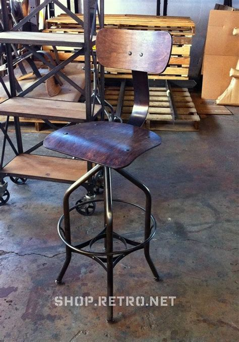 vintage toledo leather bar chair vintage industrial toledo reproduction drafting stool