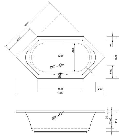 Sechseck Badewanne Maße by Badewanne Sechseck 190 X 90 X 44 5 Cm Bad Heizung Design