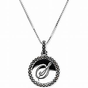 judith jack sterling silver marcasite 13 ct tw letter s With letter s necklace silver