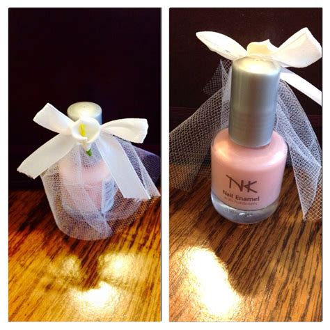 idea for bridal shower favor nail polish bride with