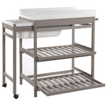 table langer baignoire coulissante table 224 langer avec baignoire coulissante comfort luxe