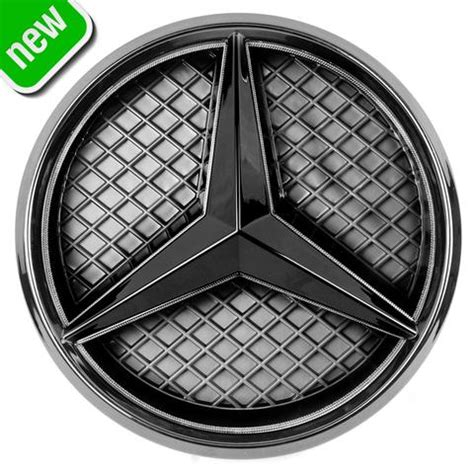 Mercedes logo by unknown author license: LED Emblem for Mercedes-Benz 2011-2018 Black Edition, Illuminated Logo