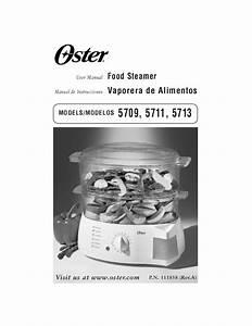 Oster Electric Steamer 5711 User U0026 39 S Guide
