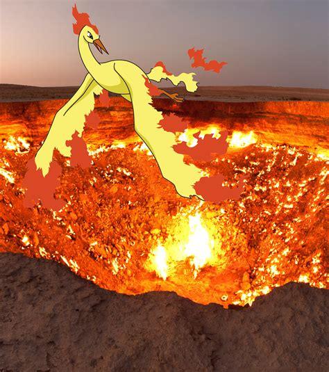 photo le pok 233 mon sulfura pourrait bien voler au dessus des portes de l enfer au turkm 233 nistan