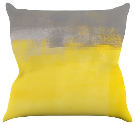 yellow throw pillow carollynn tice quot a simple abstract quot yellow gray throw