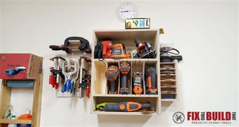 how to build built in cabinets french cleat tool storage system fixthisbuildthat
