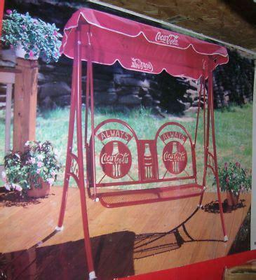 Coca Cola Swing by Coca Cola Swing Glider Outdoor Patio Swing Set Canopy