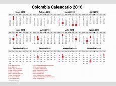 calendario colombia 2018 Idealvistalistco
