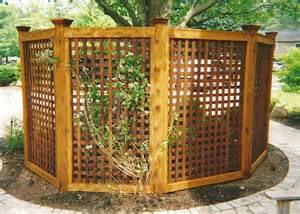 Wood Lattice Fence Panels