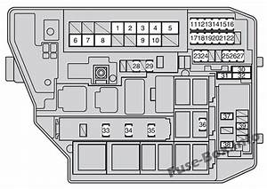 Fuse Box Diagram Toyota Corolla  E140  E150  2007