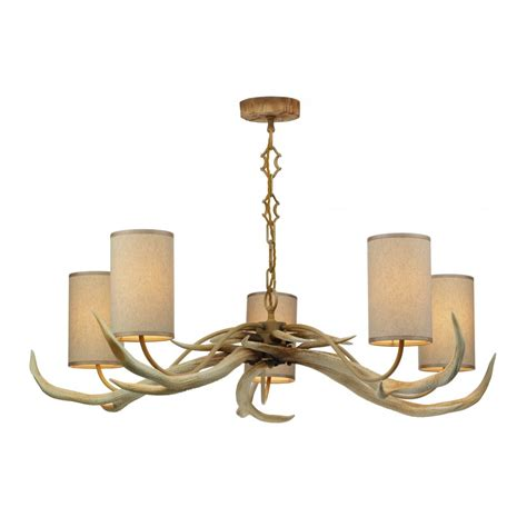 artisan lighting antler stag antler 5 light hanging