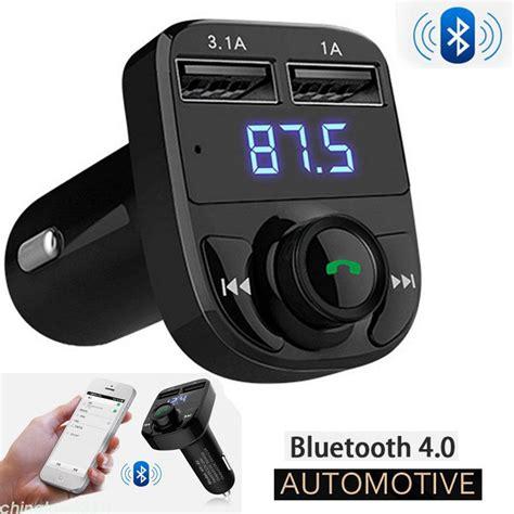 bluetooth adapter auto car bluetooth kit fm transmitter wireless radio adapter