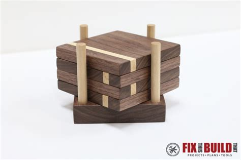 ana white wooden drink coasters diy projects