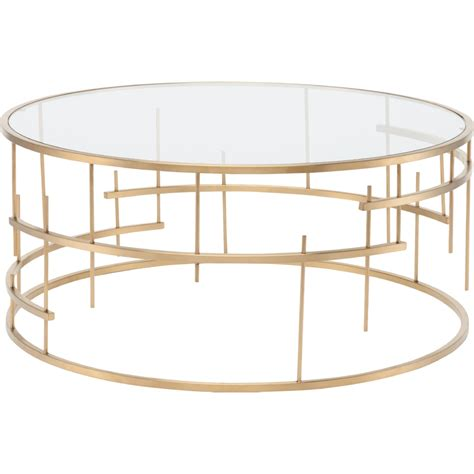 gold base coffee table nuevo modern furniture hgde159 tiffany round coffee table
