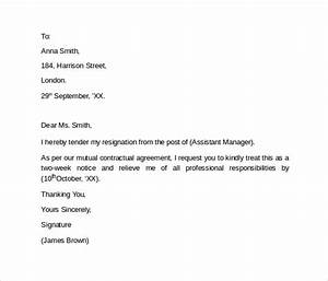simple resignation letter template 9 resignation letters samples examples formats
