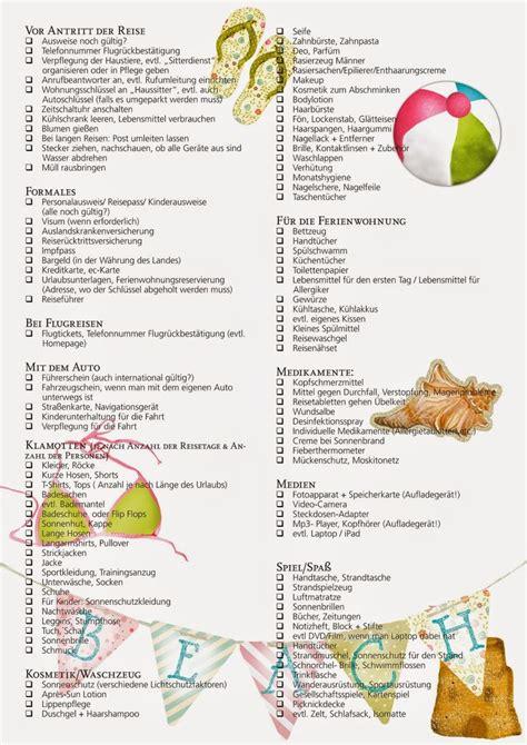 Checkliste Urlaub Alles Im Gepaeck die besten 25 packliste urlaub ideen auf