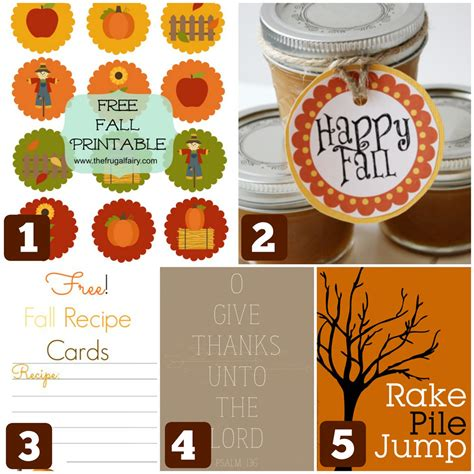 10 Cute & Free Fall Printables  Cheap Is The New Classy