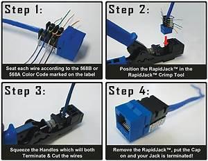 Rapidjack Crimp Tool For Leviton And Rapijacks