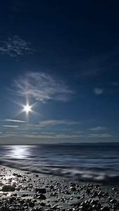 Shining, Moon, Over, Sea, Iphone, 6, Wallpaper, Download
