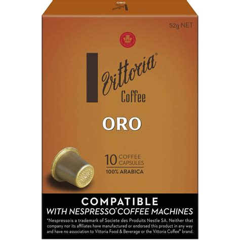 Vittoria espresso coffee is a blend of premium 100% arabica coffees, predominantly from central and south america. Vittoria Coffee Nespresso Compatible Oro Coffee Capsules ...