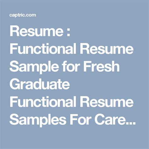 resume functional resume sle for fresh graduate