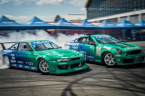 team falken exploring  world  drifting evo