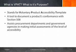 challenges with vpats With voluntary product accessibility template section 508