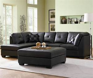 Black affordable new sectional by coaster furniture in chicago for Darie leather sectional sofa with left side chaise