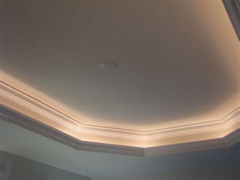 lighted tray ceiling enhances in your home