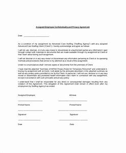 employee confidentiality agreement 10 free word pdf With privacy contract template