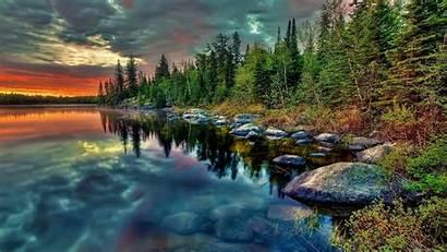 Hdr Fotografie Stein Wasser Baum