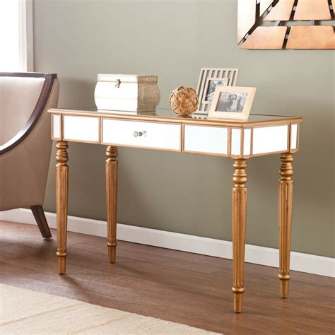 mirrored console table accent unique design storage space fully assembled ebay