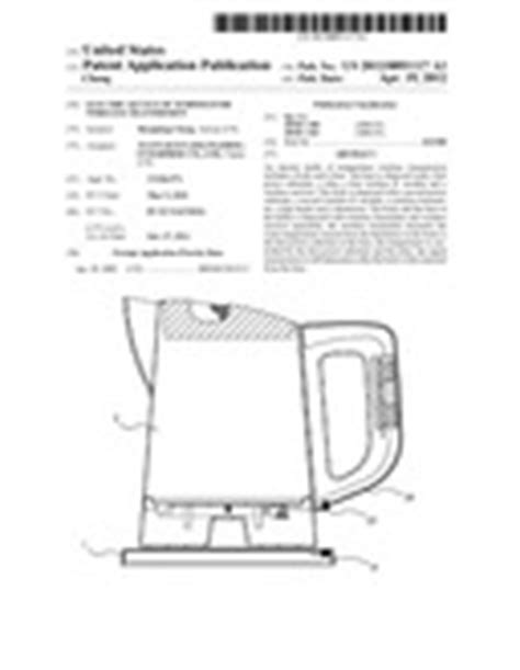 electric kettle of temperature wireless transmission patent application